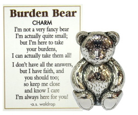 Burden bear - The perfect gift for a friend that lets someone know you are willing to share their troubles and be a friend in their time of need.
