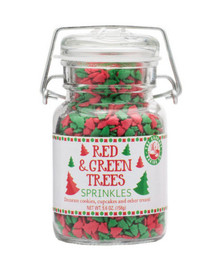 Beautiful Red & Green Christmas Tree Sprinkles will make any of your Holiday Baked Goods vibrant with Holiday Cheer!