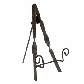"""Elegant plate stand with twisted iron. Dimensions: 61/2"""" W. x 81/4"""" D. x 111/8"""" H."""