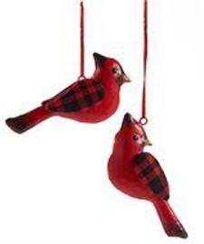 Metal Cardinal Ornament