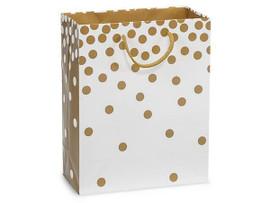 Gold Dots Gloss Gift Bags, Cub 8x4x10