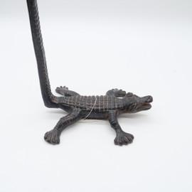 Iron Paper Holder Crocodile