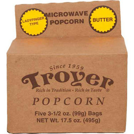 Delicious ladyfinger style popcorn that can be made with the convenience of your microwave!