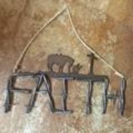 Faith Cowboy Prayer Decor