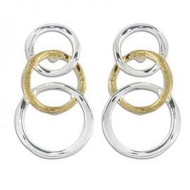 Earrings Two Tone Linked Rings