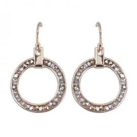 Crystal And Rose Gold Hoop Earrings