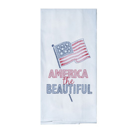 America the Beautiful Embroidered Flour Sack Towel