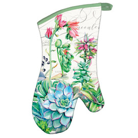 Pink Cactus Oven Mitt by Michel Design Works