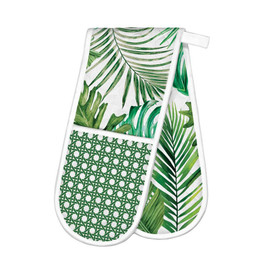 Palm Breeze Double Oven Glove by Michel Design Works