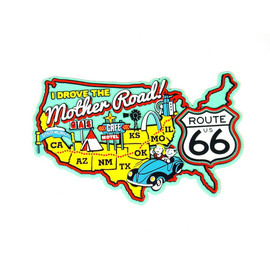 R66 USA Map Magnet