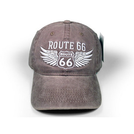R66 Washed Brown Cap with Wings