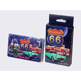 R66 Retro Collage Playing Cards