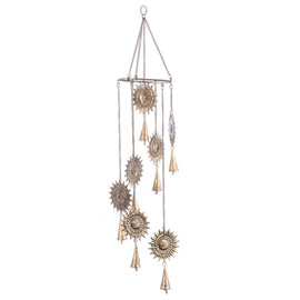 Antique Gold Spiral Sun Wind Chime