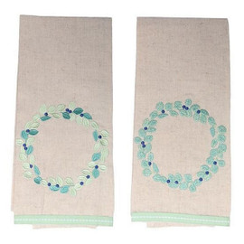 Eucalyptus design cotton tea towel
