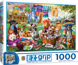 Laundry Day Rascals 1000 PC Easy Grip Puzzle