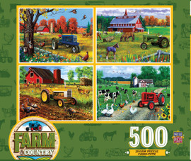 Farm Country 4 Pack 500 PC Puzzle Set