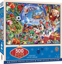 Snow Globe Dreams 500 PC Glitter Puzzle