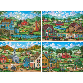 MasterPieces 500 PC Panoramic Americana puzzles by Bonnie White Simple Living Space Saver