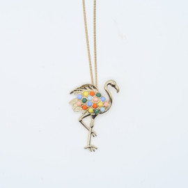 Multi-Colored Flamingo Necklace