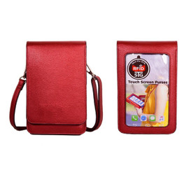 Metro Cell Phone Wallet Purse-Extra Deep Pocket-Red