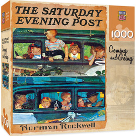 Saturday Evening Post - Coming and Going 1000 Piece Jigsaw Puzzle by Norman Rockwell