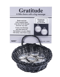 Gratitude charms in a basket Ganz ER51880