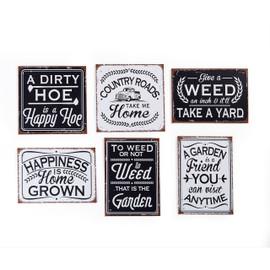 Small Black and White Garden Wall Plaque