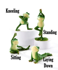Yoga frog with 4 assorted positions