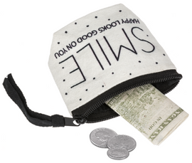 Black and White Coin Bag
