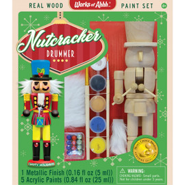Nutcracker Drummer Holiday Wood Paint Kit