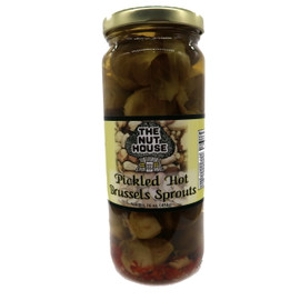 NH Hot Pickled Brussel Sprouts 16 oz