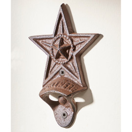 Cast Iron Star Design Wall Mounted Bottle Opener