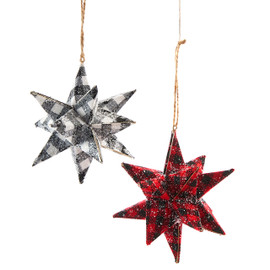 3D Plaid Starburst Ornament