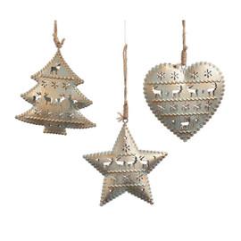 Metal Ornament With Reindeer