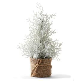 Christmas Burlap Mini LED Tree
