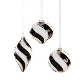 Black and White Spiral Ornament
