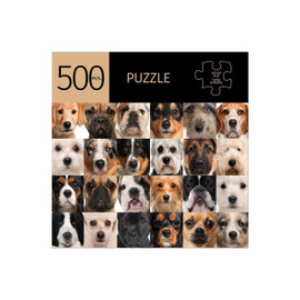 Keep your mind sharp, strengthen your short term memory and logical thinking, and lift your spirits by challenging yourself to a puzzle. It's hard not to be in a better mood when looking into the eyes of these handsome canines! 500 piece puzzle is 28x20inches when completed. Made from a durable recycled cardboard.