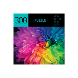 Keep your mind sharp, strengthen your short term memory and logical thinking by challenging yourself to a puzzle with a picture of a bright rainbow-hued flower.  11.5x16.25 inches when completed. Made from a durable recycled cardboard.