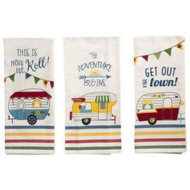 Camper Theme Tea Towel