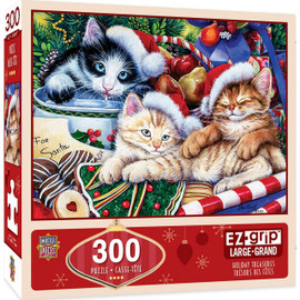Holiday Treasures Jigsaw Puzzle Christmas Kittens 300 Pieces