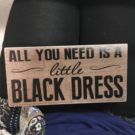 """Perfect wood block sign for any young lady. Sign measures 8"""" x 4"""" x 1 1/4"""""""