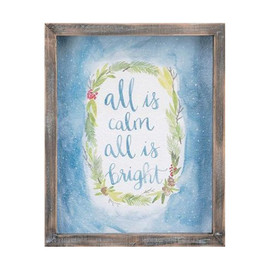 """A fun and unique Christmas watercolor for your walls or shelf in any room of the house! .63 lbs  10.24"""" x 8.27"""" x 1.77"""""""