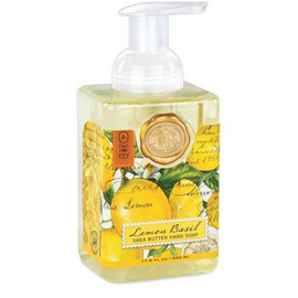 The generous size of our foaming hand soap proves you can offer great value without sacrificing quality. The soap contains shea butter and aloe vera for gentle cleansing and moisturizing. DETAILS 17.8 fl. oz. / 530 ml liquid SCENT Citrus notes of lemon and mandarin enhanced with green basil leaf
