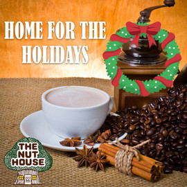 <p>Home for the Holidays flavored coffee beans: creamy hazelnut and cinnamon.</p>