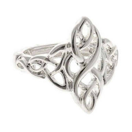 Silver Openwork Pointed Celtic Stretch Ring