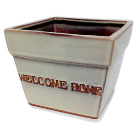 "This beautiful Ceramic Glazed Planter will make the perfect addition to your home or as a gift.  Measures  5.5""w x 5.5""d  x 4.5""h"