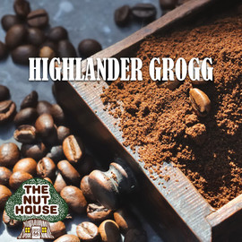 <p><span>Highlander Grogg flavored coffee beans: butterscotch, hazelnut and caramel. Delicious!</span></p>