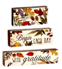 """Stacking Blocks remind us to """"Begin Each Day With Gratitude"""""""