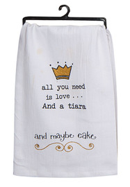 """A humorous take on growing up, this sassy towel makes a great gift for Birthdays for those with a great sense of humor! part of the """"girlfriends"""" collection by Dan DiPaolo, this towel is printed with sparkle glitter dye for an extra special touch."""