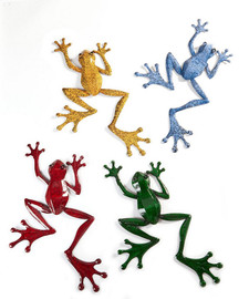 "How cute are these big 18"" frogs crawling on your sunroom or porch walls?  Sold individually."